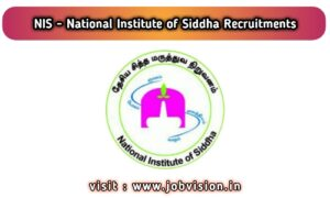 NIS Chennai Recruitment