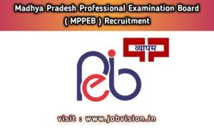 MP VYAPAM MPPEB Recruitment