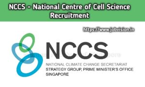 NCCS - National Centre For Cell Science Recruitment 2020