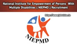 NIEPMD Recruitment