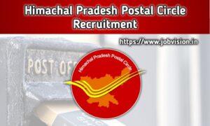 Himachal Pradesh Postal Circle Recruitment