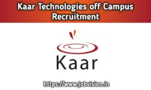 Kaar Technologies Off Campus Drive