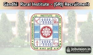 Gandhigram Rural Institute Dindigul Recruitment