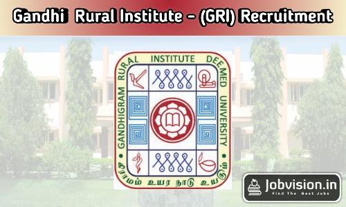 Gandhigram University Recruitment 2021