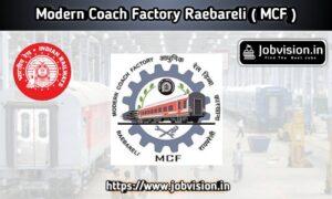 Modern Coach Factory Recruitment MCF