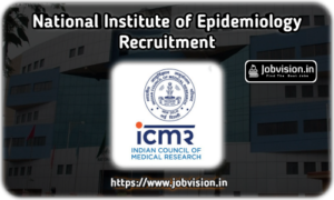 NIE - National Institute of Epidemiology Recruitment
