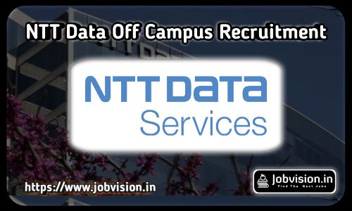 NTT Data Off Campus Recruitment 2021