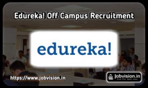 Edureka Off Campus Drive