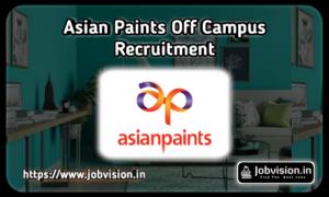 Asian Paints Recruitment
