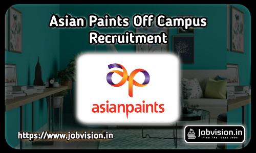 Asian Paints Recruitment 2021