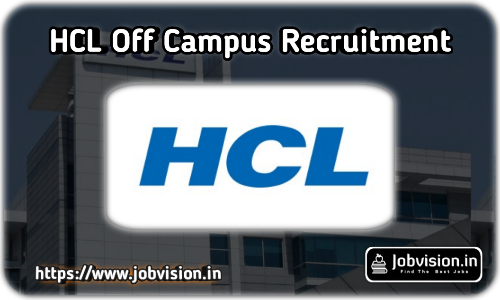 HCL Recruitment 2021