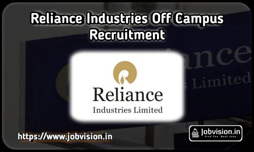 Reliance Industries (RIL) Recruitment 2021