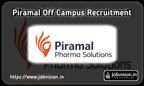 Piramal Healthcare Recruitment