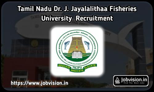 TNJFU Assistant Recruitment 2021