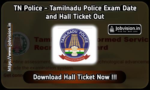 TNUSRB TN Police Hall Ticket 2020