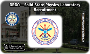 DRDO SSPL Recruitment