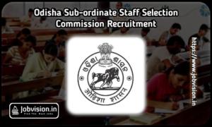 OSSSC Recruitment
