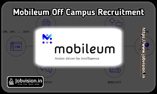 Mobileum Off Campus Drive