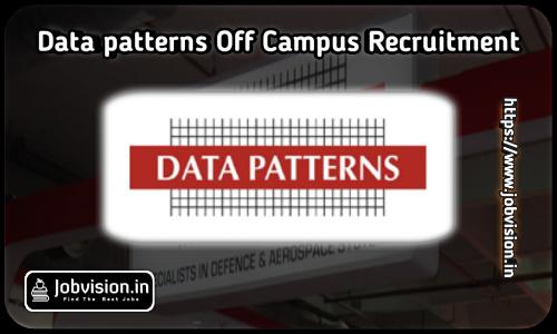 Data Patterns Freshers Recruitment 2021