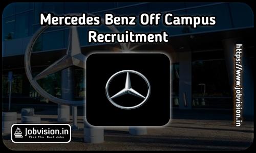 Mercedes Benz Recruitment 2021