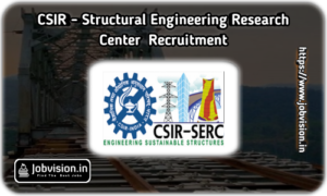 CSIR SERC Chennai Recruitment
