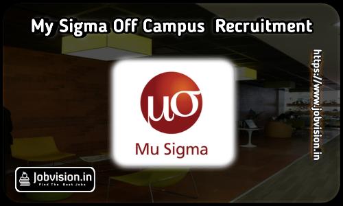 Mu Sigma Off Campus Drive 2021