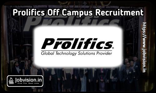 Prolifics Off Campus Drive 2021