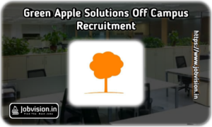 Green Apple Solutions Off Campus Drive
