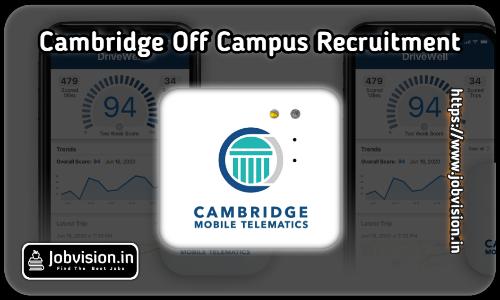 Cambridge Mobile Telematics Recruitment 2021