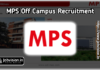MPS Ltd Recruitment