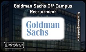 Goldman Sachs Freshers Hiring