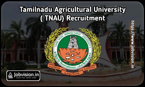 TN Agricultural University Recruitment 2021