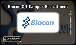 Biocon Off Campus Drive