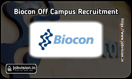 Biocon Off Campus Drive 2021