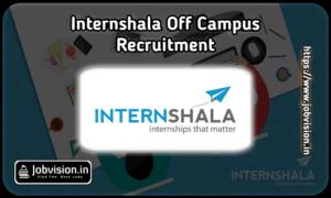 Internshala Off Campus Drive