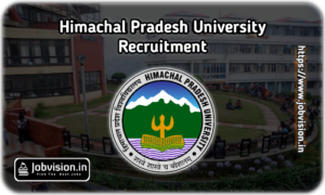 Himachal Pradesh University - HPU Recruitment