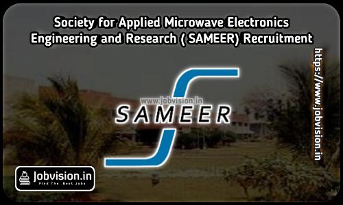 SAMEER Chennai Recruitment 2021