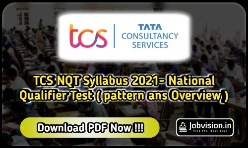 TCS NQT Syllabus 2021