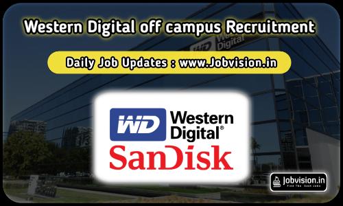 Western Digital(SanDisk)Off Campus Drive 2021