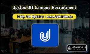 Upstox Off Campus Drive