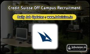 Credit Suisse Recruitment
