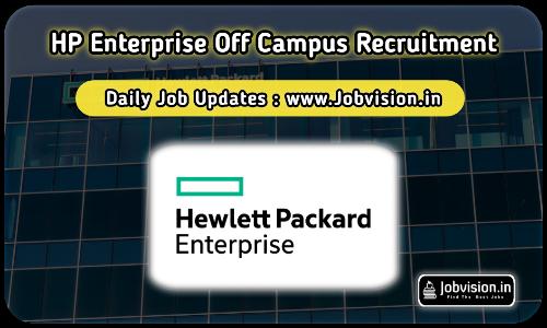 HP Enterprise Recruitment 2021