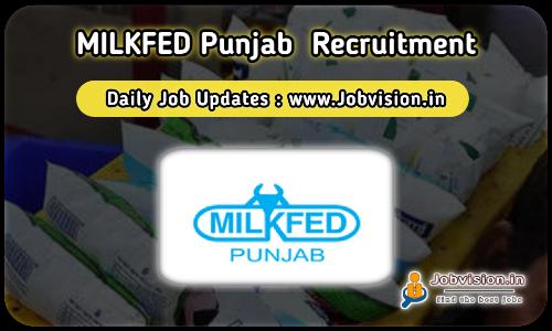 MILKFED Punjab Recruitment 2021