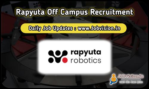 Rapyuta Robotics Off Campus Drive 2021
