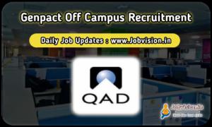 Qad India Off Campus Drive