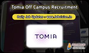 Tomia Recruitment