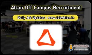 Altair Off Campus Recruitment