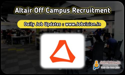 Altair Off Campus Recruitment 2021