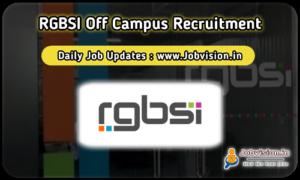 RGBSI Off Campus Recruitment