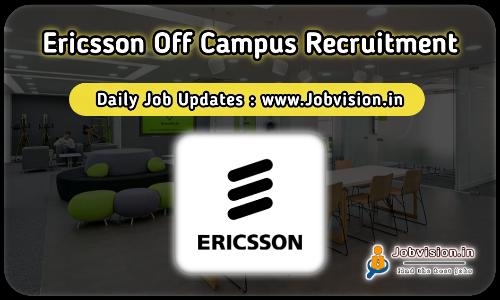 Ericsson Freshers Recruitment 2021